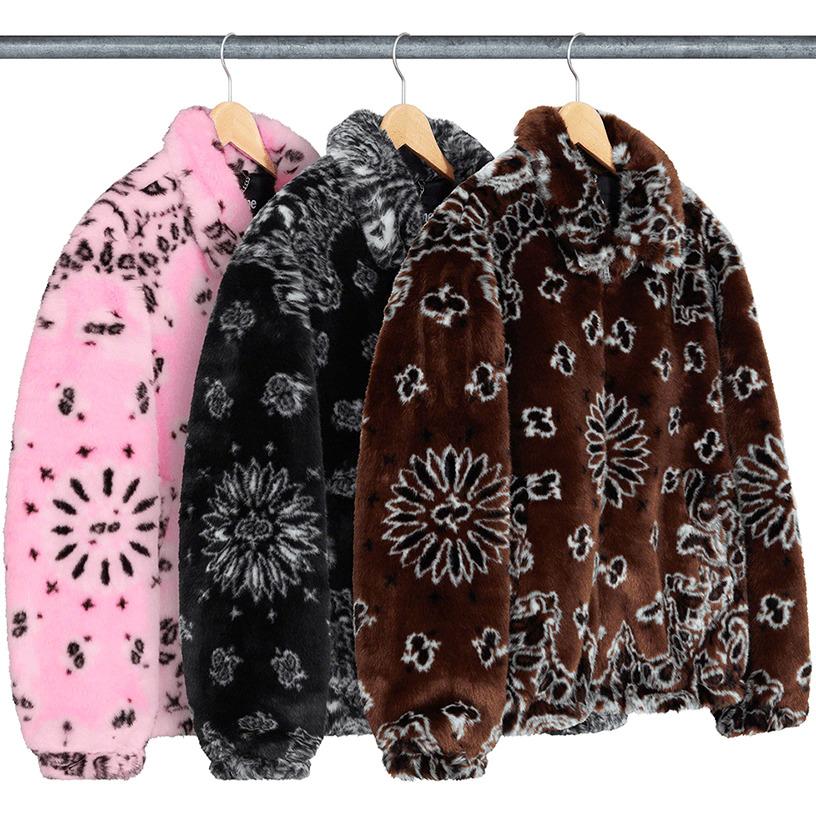 Bandana Faux Fur Bomber Jacket
