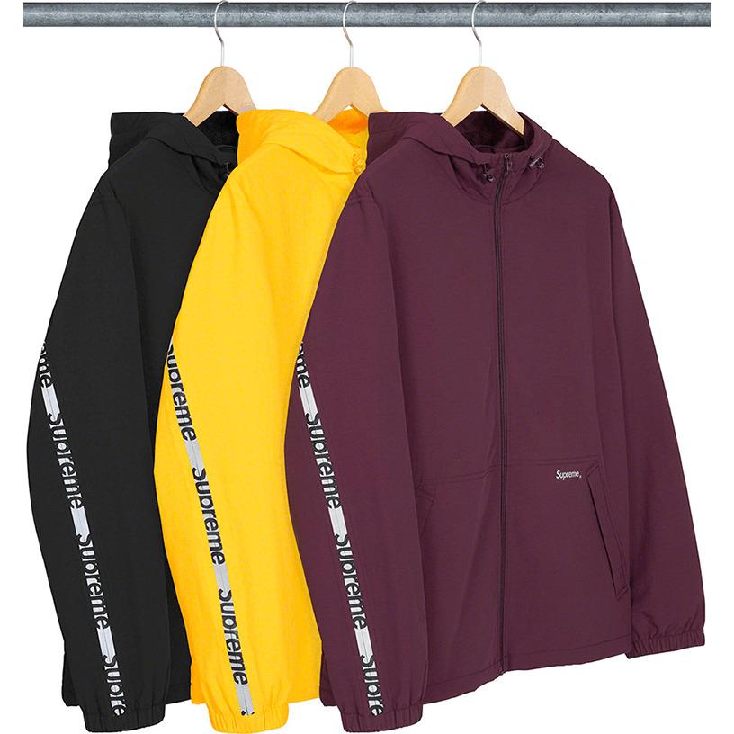 Reflective Zip Hooded Jacket