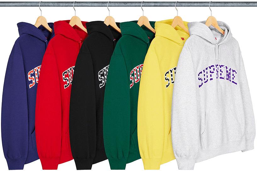 Hearts Arc Hooded Sweatshirt