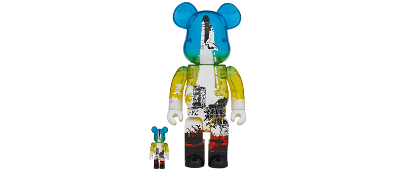 【抽選:4月4日(日)まで】SPACE SHUTTLE BE@RBRICK LAUNCH Ver. 100% & 400%