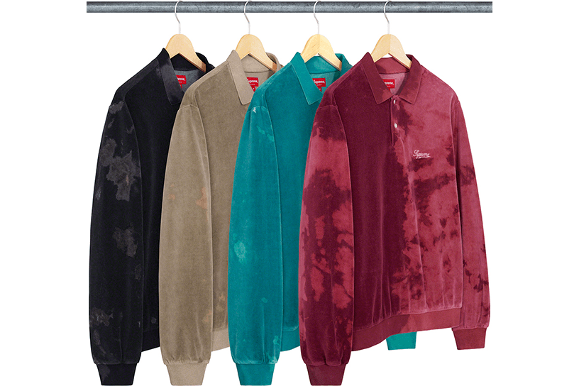 Bleached Velour L/S Polo