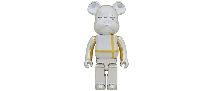 【抽選:4月18日(日)まで】BE@RBRICK MEDICOM TOY PLUS SILVER CHROME Ver.
