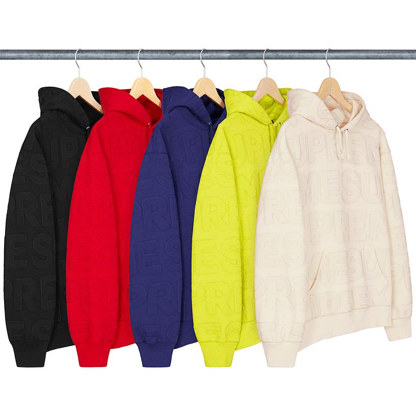 Embossed Logos Hooded Sweatshirt