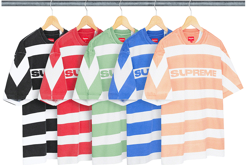 Printed Stripe S/S Top