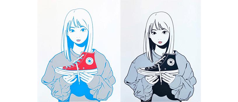 """【4月29日(木)~】CONVERSE TOKYO × Backside works. シルクスクリーン作品 """"履かないの?"""""""