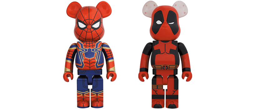 【5月1日(土)】BE@RBRICK IRON SPIDER & DEADPOOL
