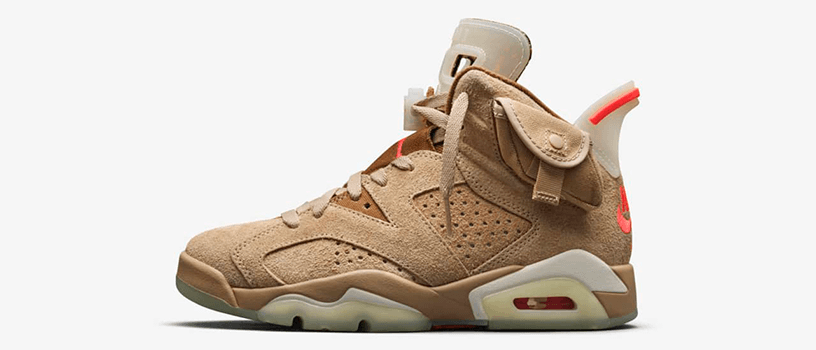 "【海外抽選】NIKE AIR JORDAN 6 RETRO SP x TRAVIS SCOTT ""BRITISH KHAKI"""