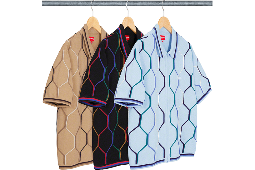 Hex Zip Up Polo