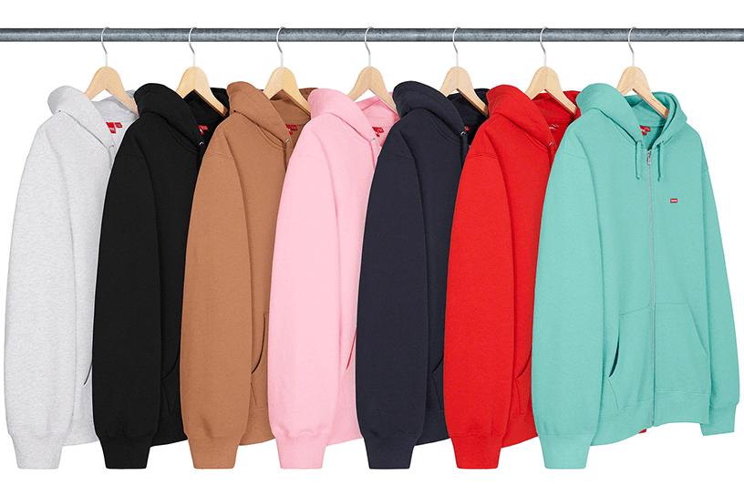 Small Box Zip Up Hooded Sweatshirt