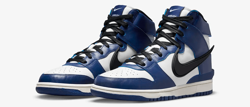 "【5月18日(火)】NIKE DUNK HIGH x AMBUSH ""DEEP ROYAL"""