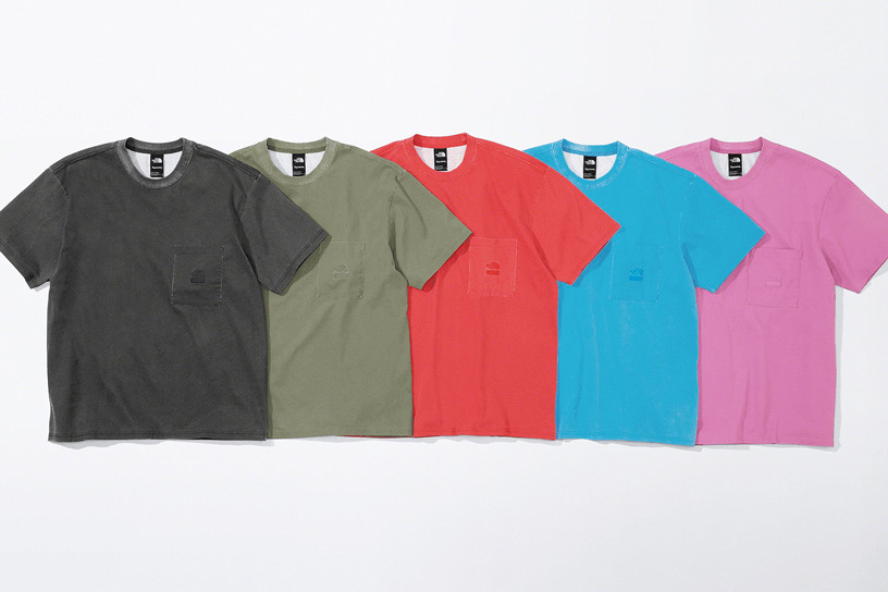 Supreme®/The North Face® Pigment Printed Pocket Tee