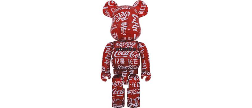 【6月26日(土)~】BE@RBRICK atmos × Coca-Cola CLEAR RED 1000%