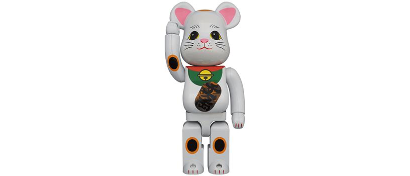 【7月27日(火)12時~】BE@RBRICK 招き猫 白メッキ 発光 400%
