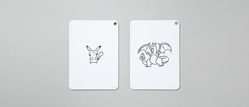 【抽選:7月25日(日)18時まで】Yu Nagaba × ポケモンカードゲーム シルクスクリーンプリント