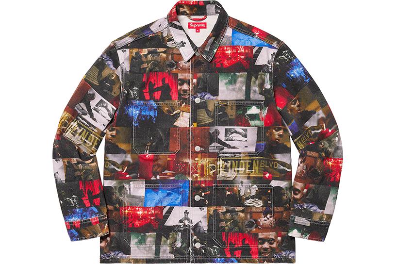 Nas and DMX Collage Denim Chore Coat