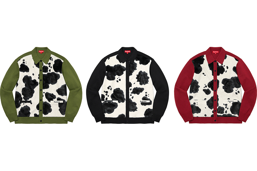 Cow Print Cardigan