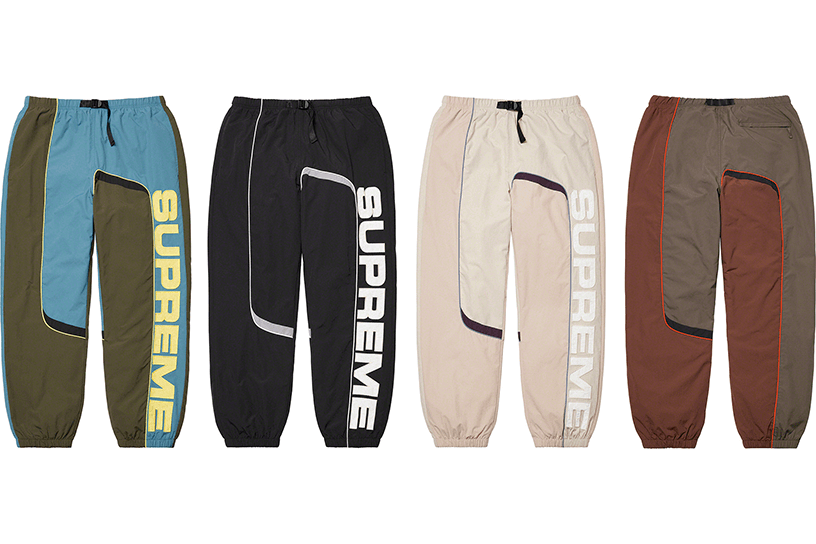 S Paneled Belted Track Pant