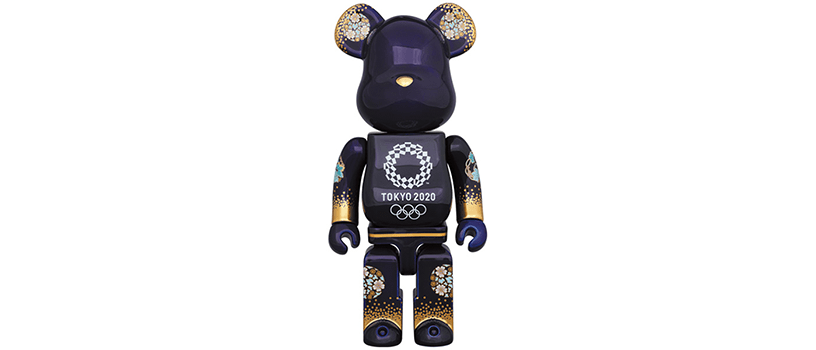 【8月28日(土)~】有田焼 ベアブリック 400% 2(東京 2020 オリンピックエンブレム)
