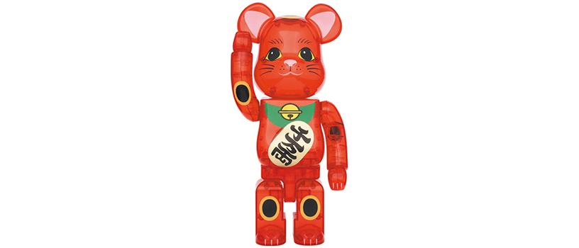 【8月31日(火)12時~】BE@RBRICK 招き猫 梅透明
