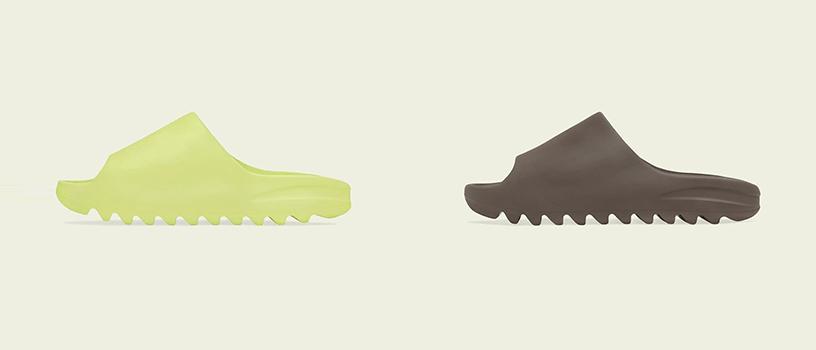 """【海外抽選】adidas YEEZY SLIDE """"GLOW GREEN"""" & """"SOOT"""""""