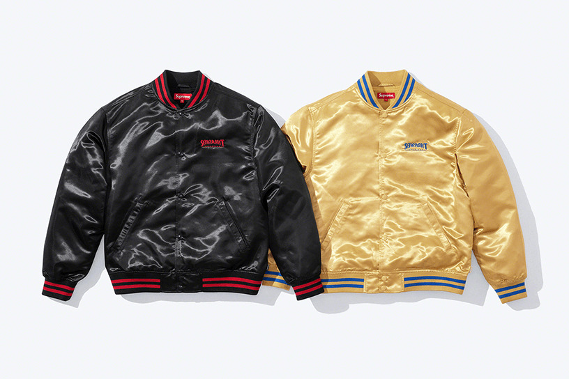 Supreme®/Thrasher® Satin Varsity Jacket
