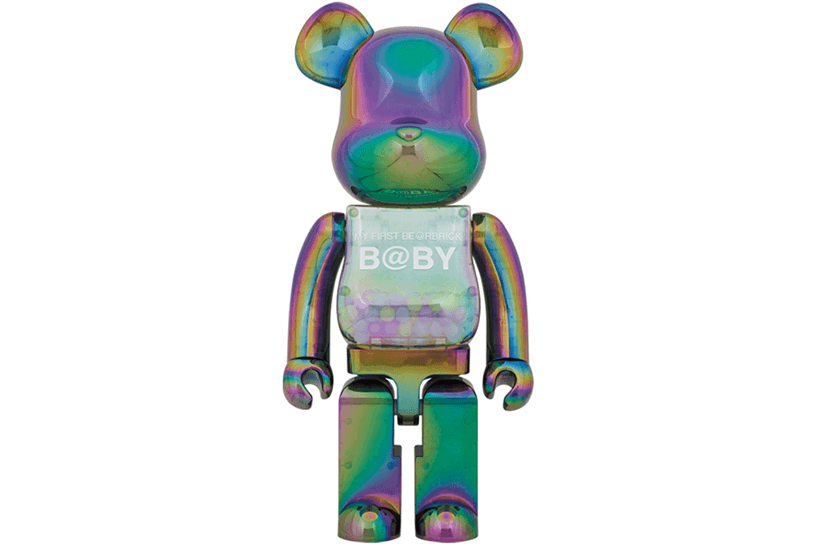 MY FIRST BE@RBRICK B@BY CLEAR BLACK CHROME Ver. 100% & 400%