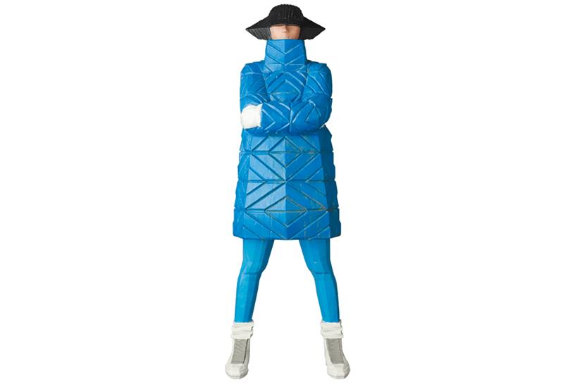 B-GIRL Down Jacket NAGAME BLUE