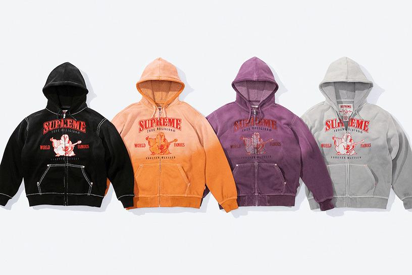 Supreme®/True Religion® Zip Up Hooded Sweatshirt