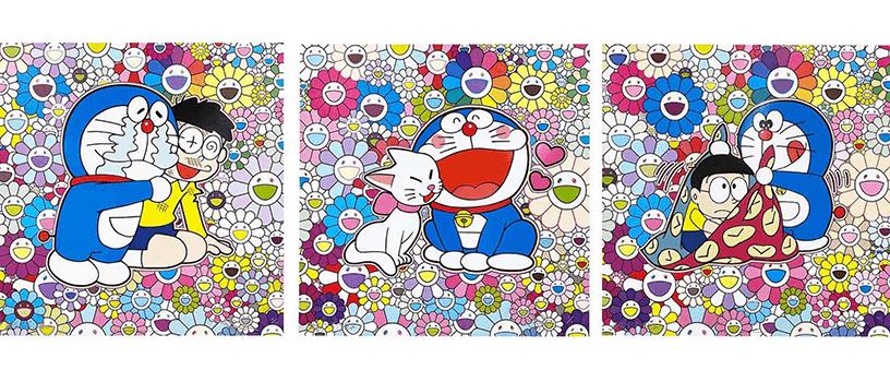 【10月27日(水)12時~】村上隆 ドラえもん コラボエディションサイン入りポスター作品3種